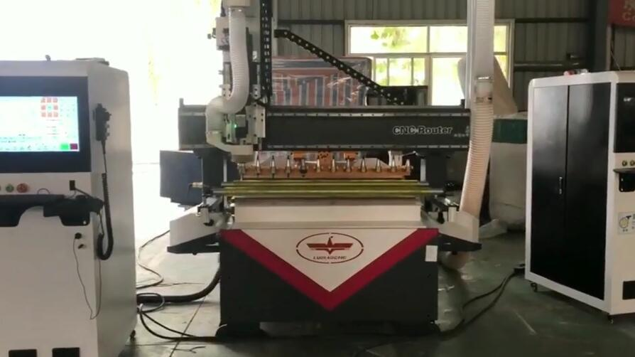 LD-1325 ATC Woodworking Engraving Machine Working Video