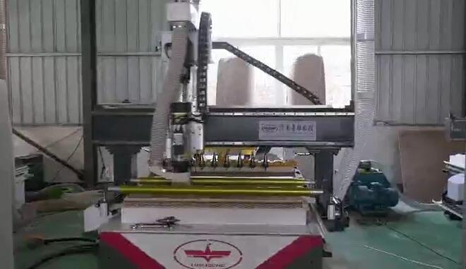CNC Panel Furniture Production Line Working Video