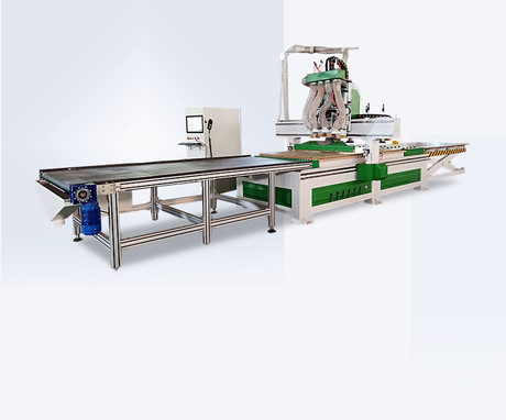 Multi-process woodworking cnc router machine with loading/unloading platform