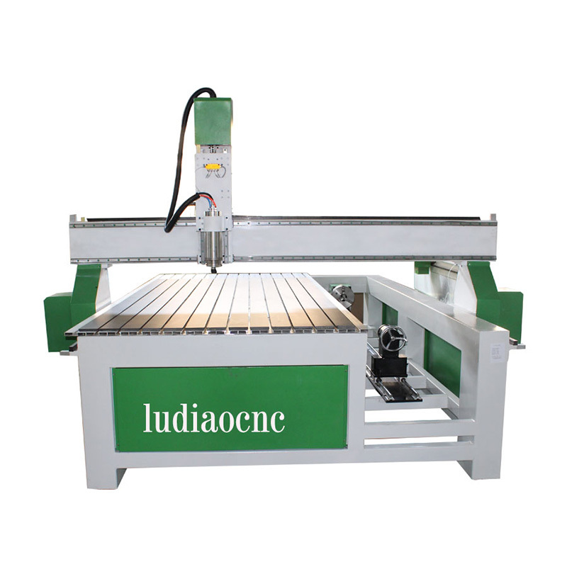 LD-1325  2/ 3d CNC Carving Router machine with rotary axis