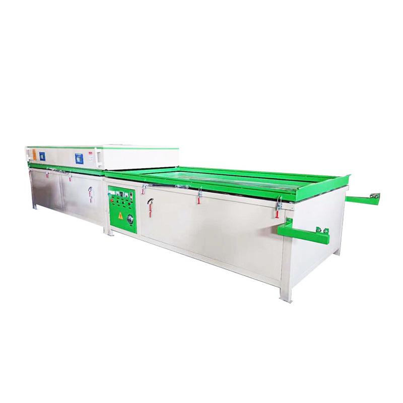 TM-2480C-2 Vacuum membrane  press machine Semi auto with double stations for PVC door production line