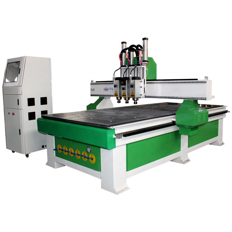 LD-1325 Three-Process Woodworking CNC Router Machine with Vacuum Adsorption Station